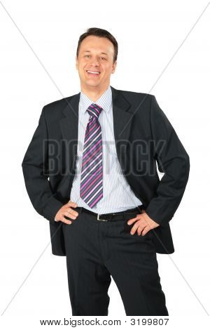 Smiling Businessman Posing
