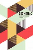 Abstract Isometric Geometric Shape Layout Design Template Poster Background Modern Art Style. Graphi poster