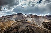 View of Himalayas near Tanglang la Pass - mountain pass in Ladakh along the Leh-Manali highway poster