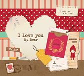 foto of passport template  - Scrapbook Elements for Valentine - JPG