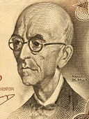 SPAIN - CIRCA 1970: Manuel De Falla (1876-1946) on 100 Pesetas 1970 Banknote from Spain. Classical m