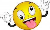 picture of smiley face  - Illustration of a Smiley Goofing Around - JPG