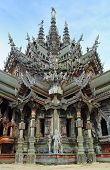 Sanctuary Of Truth in Pattaya national landmark of Thailand poster