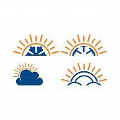 Vector - Sunburst Star Icon, Sun Burst Shapes. Vintage Light Starburst Logo, Sunburst Minimal Logo F poster