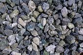 Gravel Close Up. Material For The Construction Of Roads. poster