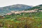 The Hilltop Village Of Petralia Sottana In Sicily, Italy poster