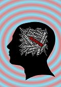 pic of ibuprofen  - Headache in word collage illustration - JPG
