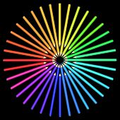 stock photo of diffraction  - Coloured pencils arranged in a circle - JPG