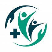 Medical Logo, Cross Logo, Medical Center Logo, Health Symbols, Heart Logo, Health Logo, Doctor Logo, poster