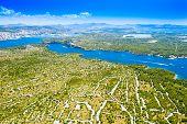 Croatian Adriatic Coast, Beautiful Landscape In Sibenik Channel, Old Agriculture Fields In Karst, Ae poster