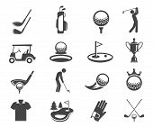 Golf Sport Game Vector Glyph Icons Set poster