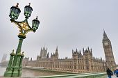 picture of big-ben  - Houses of Parliament building at London England - JPG