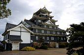 picture of shogun  - Main keep of Okayama castle in Okayama prefecture Japan - JPG