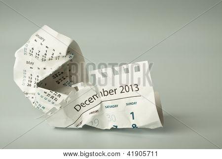 Crumpled Calendar Sheet