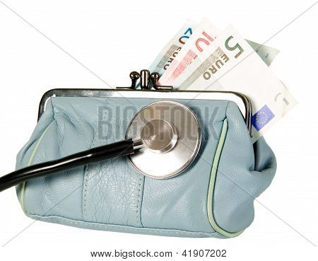 Stethoscope Is Lying On Purse