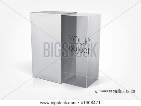 Transparent packaging box for your product inside