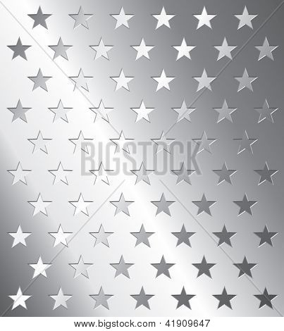 Vektor Metallplatte mit Sterne perforation