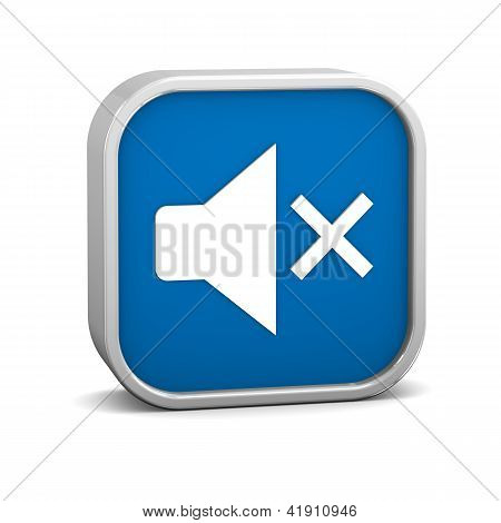 Dark Blue Disable Audio Sign