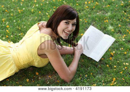 Happy Girl Reading
