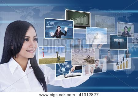 Businesswoman Using Digital Media
