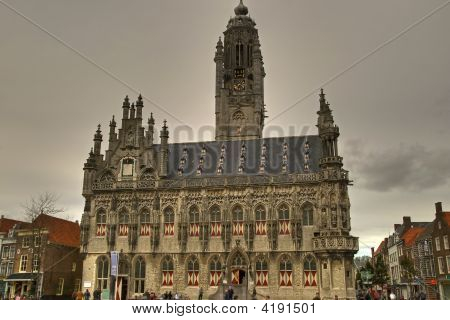 City Hall Of Middelburg In The Netherlands