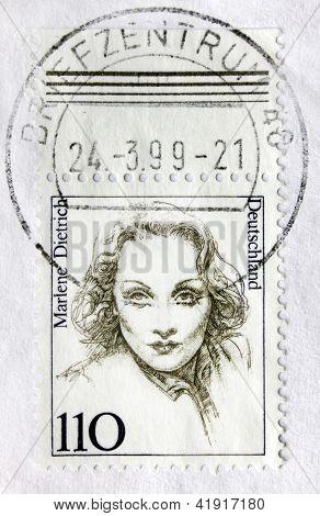 Marlene Dietrich Postage Stamp