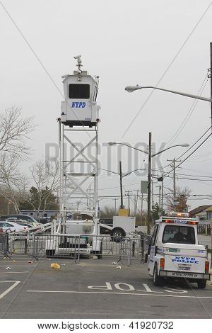 NYPD providing security in Hurricane Sandy devastated area