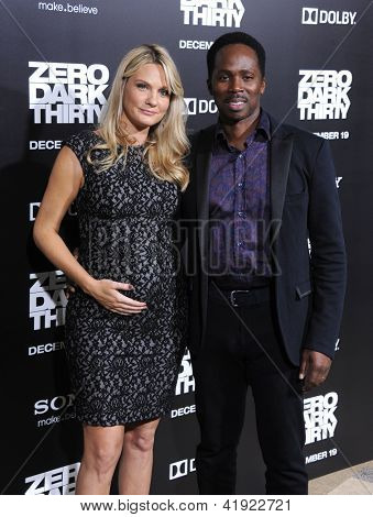 LOS ANGELES - DEC 09:  Harold Perrineau & Brittany arrives to the