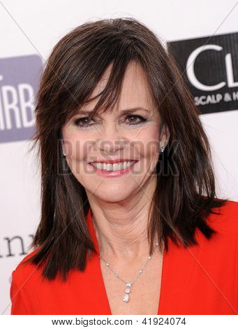 "LOS ANGELES - JAN 10:  Sally Field arrives to the ""Critic's Choice Awards 2013  on January 10, 2013 in Santa Monica, CA"