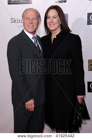 "LOS ANGELES - JAN 10:  Frank Marshall & Kathleen Kennedy arrives to the ""Critic's Choice Awards 2013  on January 10, 2013 in Santa Monica, CA"