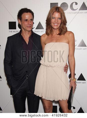 LOS ANGELES - NOV 12:  MICHELLE STAFFORD & CHRISTIAN LeBLANC arriving to MOCA Annual Gala 2011  on November 12, 2011 in Los Angeles, CA