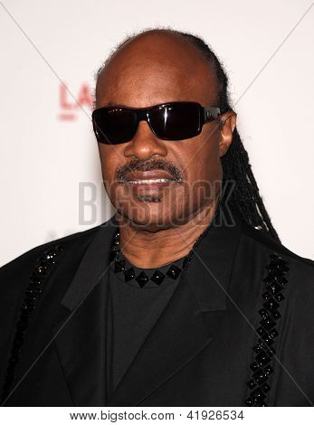 LOS ANGELES - NOV 5:  STEVIE WONDER arriving to LACMA hosts Art + Film Gala 2011  on November 5, 2011 in Los Angeles, CA