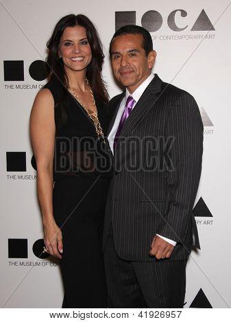 LOS ANGELES - NOV 12:  ANTONIO VILLARAIGOSA & DATE arriving to MOCA Annual Gala 2011  on November 12, 2011 in Los Angeles, CA