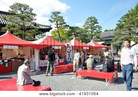 Kyoto- Oct 22: Tourist Visit At Nijo Castle, A Famous Tourist Attraction, In Kyoto
