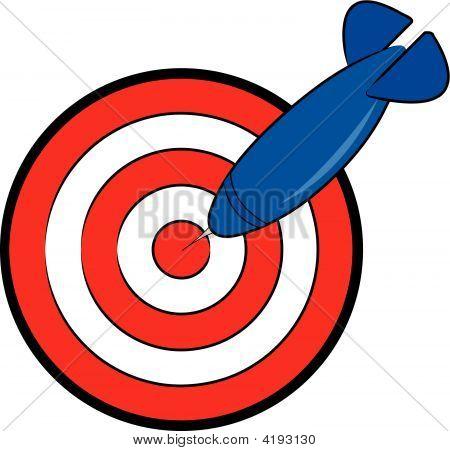 Dart And Bullseye.
