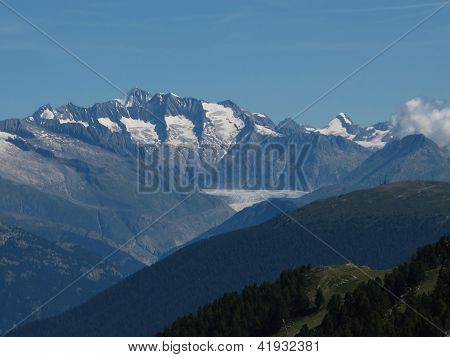 Scenery In The Canton Valais