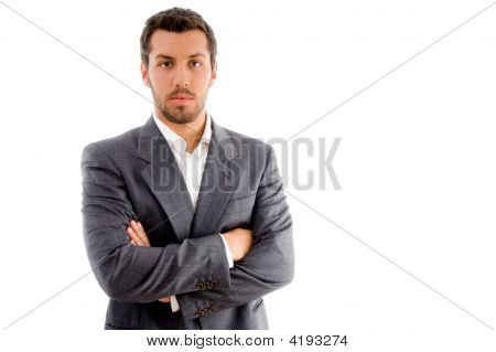 Portrait Of Businessman With Folded Hands