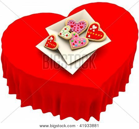 Allsorts heart-shaped cookies for Valentine's Day