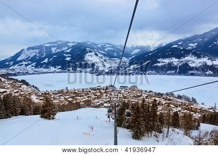 Mountains Ski Resort Zell-am-see Austria