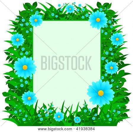 Daisy Flowers Frame