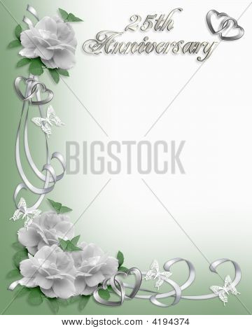 25Th Anniversary Invitation Border Stock photo
