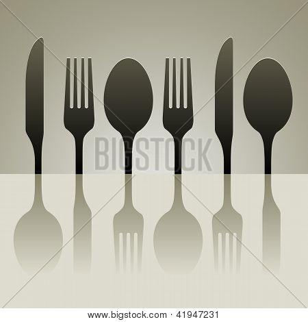 Cutlery Shadow