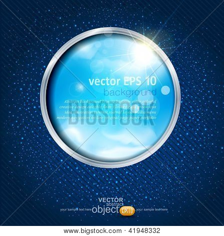 vector abstract background with the sky through the window