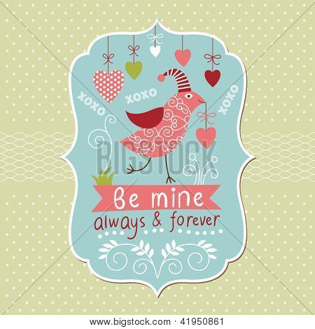 Greeting Valentine card