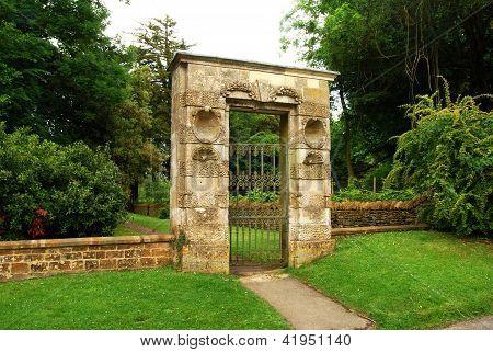 Garden stone gate