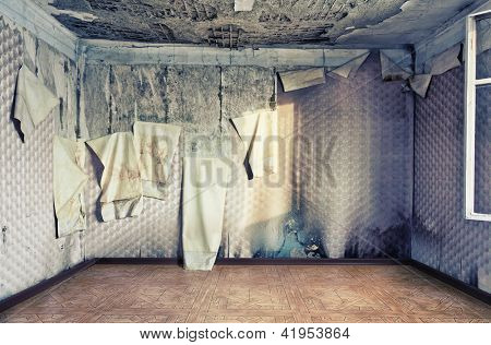 old abandoned  interior  photo