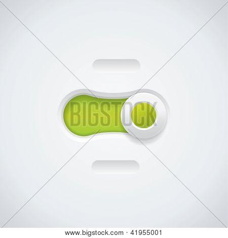 Botão do interruptor do vetor