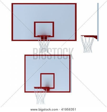 Stock Photo: Basketball Hoop On White Background
