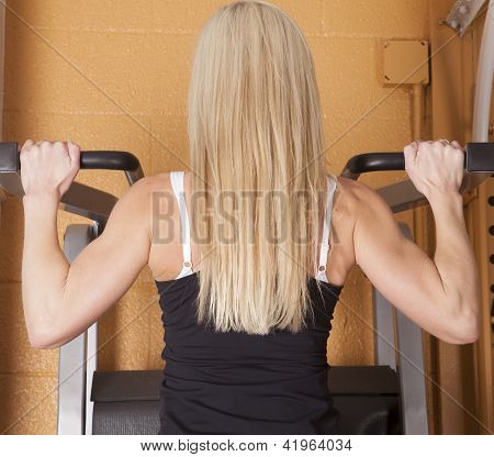Woman Pullup From Back
