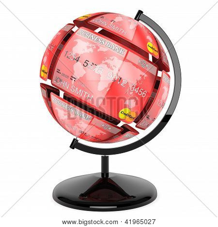 Sphere From Credit Cards As Globe